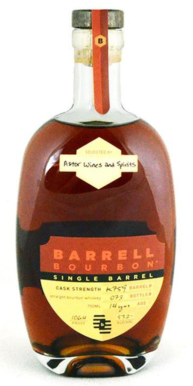 barrell bourbon 14yr astor cask strength single barrel bourbon