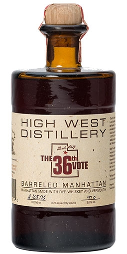 "High West ""The 36th Vote"" Barreled Manhattan"