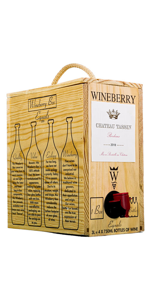 Ch Tassin Bordeaux Rouge Wineberry Bag In Box Astor Wines