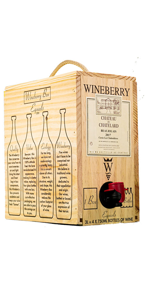 Beaujolais, Ch. du Chatelard, Wineberry Bag in Box