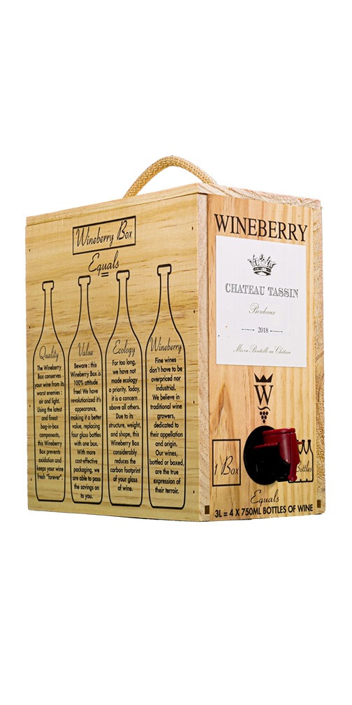 Ch. Tassin, Bordeaux Blanc, Wineberry Bag in Box
