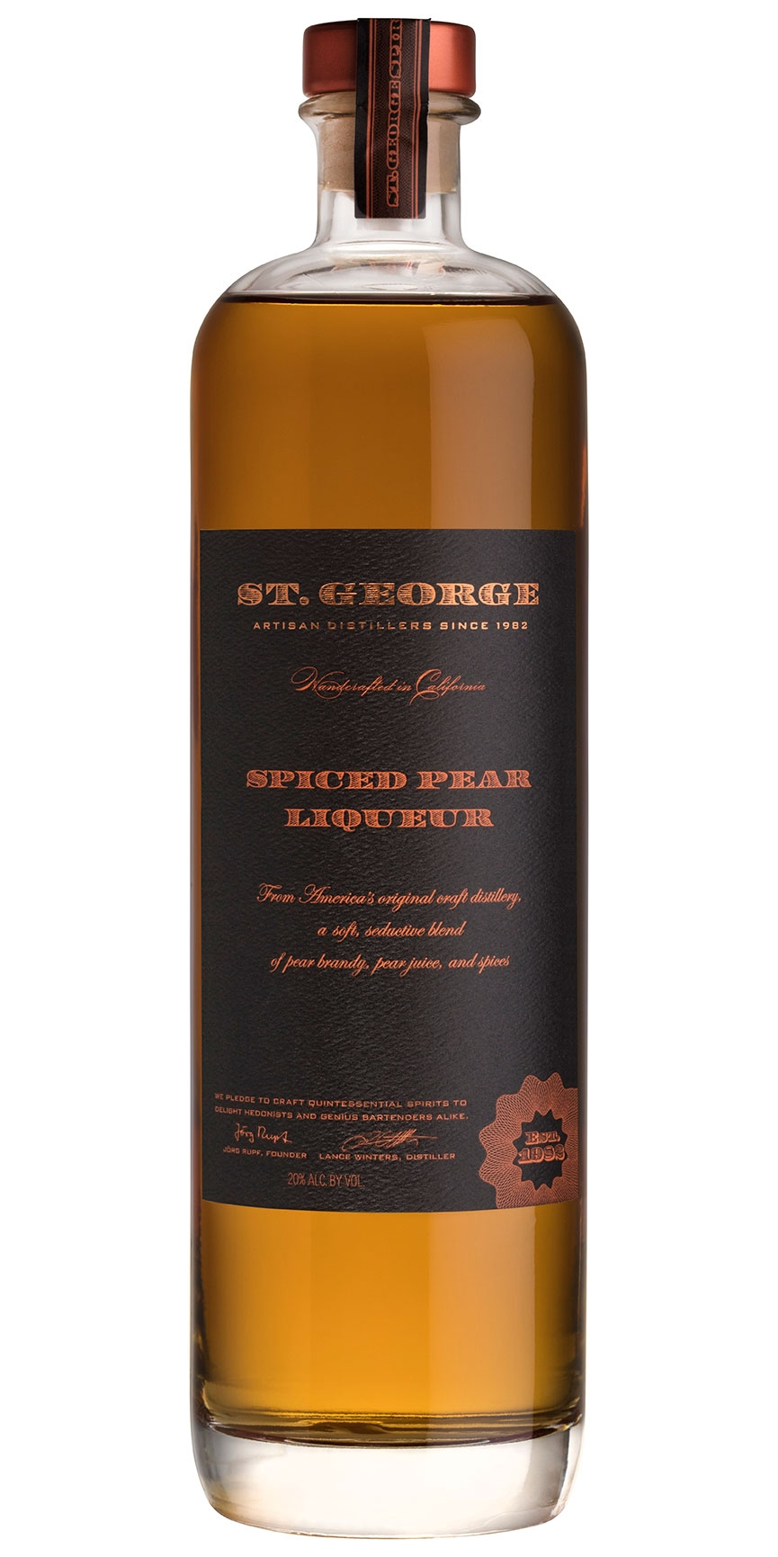 St. George Spiced Pear Liqueur
