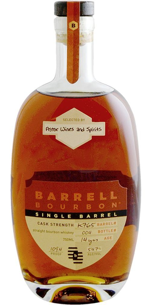 Barrell Bourbon 14yr Cask Strength Astor Single Barrel Bourbon