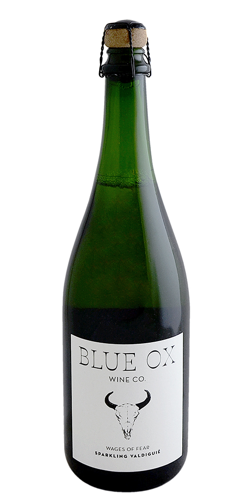 "Blue Ox ""Wages of Fear"", Sparkling Valdiguié"