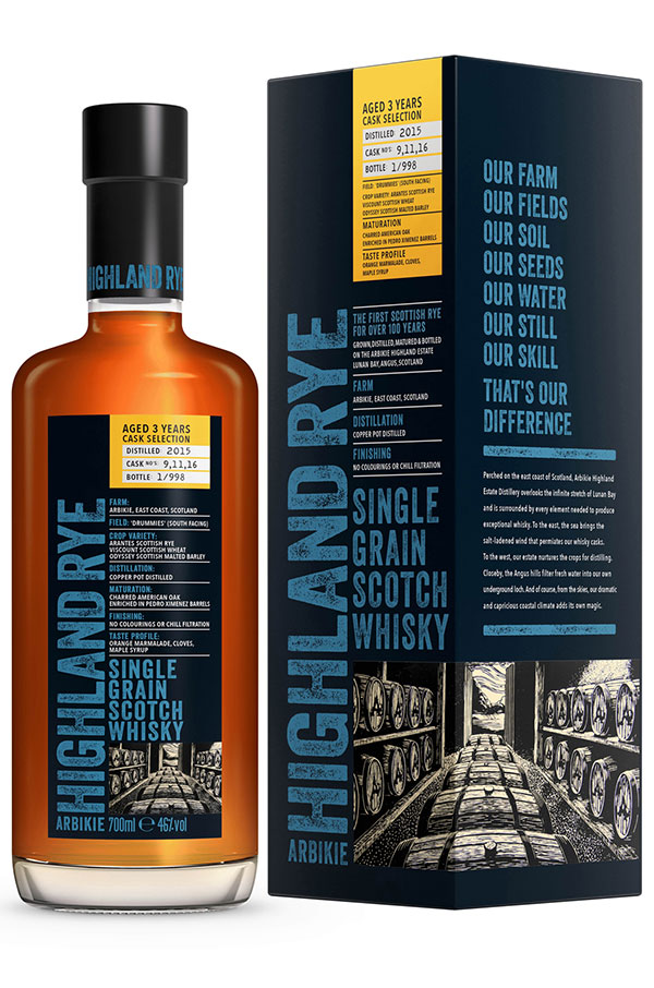 Arbikie Highland Rye 3 YR 92 Proof